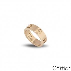 Cartier Rose Gold Plain Love Ring Size 49 B4084800